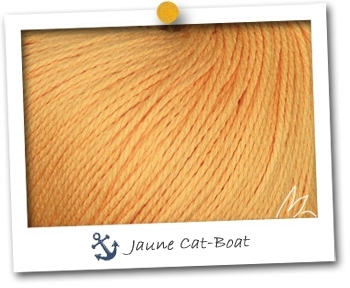 WIND - coloris JAUNE CAT-BOAT - Pelote de 100 gr