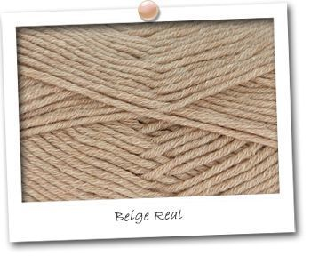 MERINOS & COTON - coloris BEIGE REAL