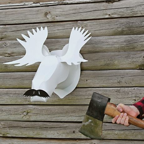 "Lampe sculpture ""moosetache"""