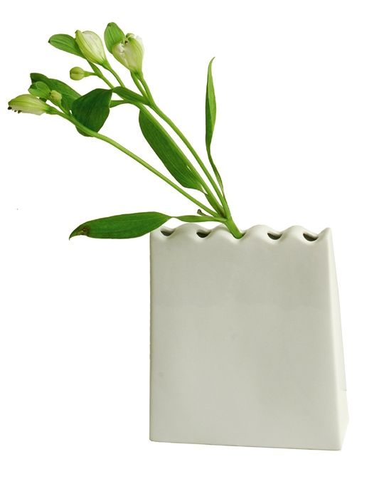 "Vase soliflore "" long mur"""