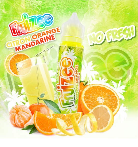 Citron Orange Mandarine No Fresh - Fruizee - Eliquid France