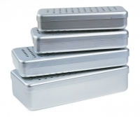 Silver Perforated Alu Boxes