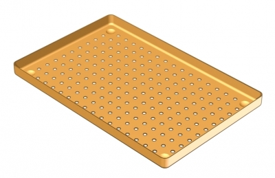 28 x 18  PERFORATED ALUMINIUM TRAY