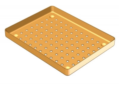 18 x 14 ALUMINIUM PERFORATED TRAY