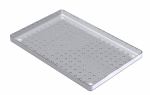 28 x 18 STAINLESS STEEL TRAY PERFORATED