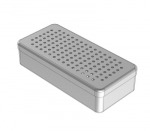 PERFORATED  ALUMINIUM BOXES 21 x 10 x 5