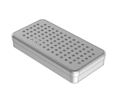 PERFORATED  ALUMINIUM BOXES 18 x 9 x 3