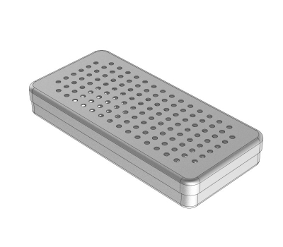 PERFORATED  ALUMINIUM BOXES 21 x 10 x 3