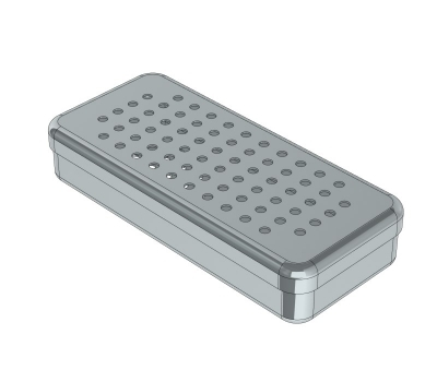 PERFORATED STAINLESS STEEL  BOXES 17x7x3