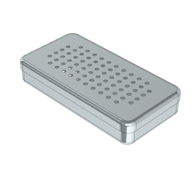 PERFORATED STAINLESS STEEL  BOXES 18 x 9 x 3