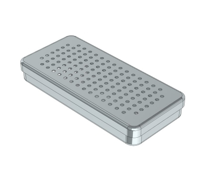 PERFORATED STAINLESS STEEL  BOXES 21 x 10 x 3