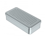 PERFORATED STAINLESS STEEL  BOXES 21 x 10 x 5