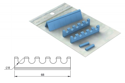 Réassort silicones :Easy Tray 18 x 10 - 5 instruments + Canule