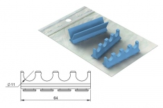 Silicone Refill for: Cassette 18 x 7 Version 4 Instruments