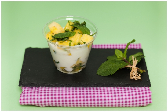 Fromage blanc 0% - Ananas - Menthe fraîche