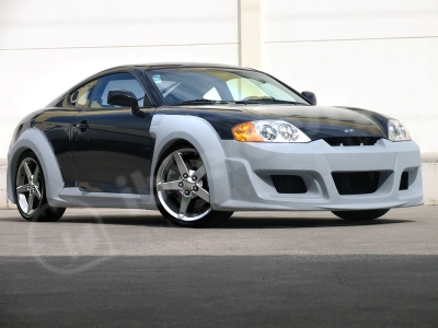 """KIT CARROSSERIE COMPLET HYUNDAI COUPE """"OUTLAW WIDE BODY"""" (2002/2007)"""