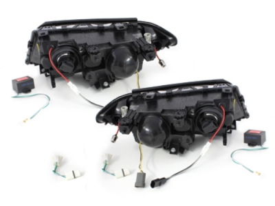 "PHARES ANGEL EYES ""NEON EYES"" BMW E46 BERLINE OU TOURING PHASE 2 (09-2001/2005)"