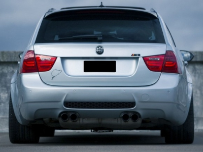 PARE CHOC ARRIERE BMW SERIE 3 E91 TOURING M3 LOOK CS STYLE (2005/2012)
