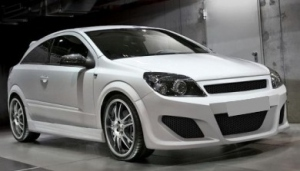 "PARE CHOC AVANT ADAPTABLE OPEL ASTRA H GTC ""INVADER"" (2005/2009)"