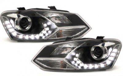"PHARES A LEDS DEVIL EYES ""DRL LOOK"" VW POLO 6R PHASE 1 DC LINE EVO (2009/03-2014)"