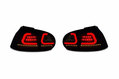 FEUX A LEDS GOLF V BLACK SMOKE LIMITED EDITION JM LINE LIGHTBAR AVEC OU SANS CLIGNOTANTS DYNAMIC TURN SIGNAL -DTS- (2003/2008)