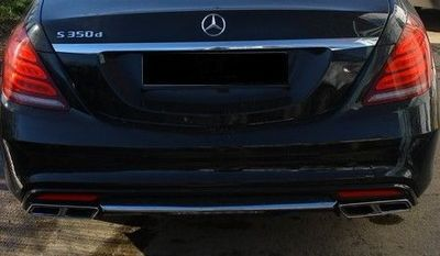 DIFFUSEUR DE PARE CHOC ARRIERE MERCEDES CLASSE S W222 AMG PHASE 1 LOOK S63 AMG (2013/06-2017)
