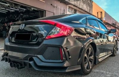 KIT CARROSSERIE HONDA CIVIC BERLINE MK10 (TYPE FC/FK) LOOK TYPE R (2016+)