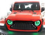 "CALANDRE ""ANGRY BIRD VERTICAL STRIPS COLORS"" JEEP WRANGLER JL (2018+)"