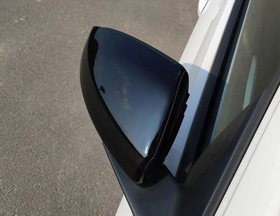 COQUES DE RETROS GLOSS BLACK OU CARBONE LOOK VW POLO 2G (10-2017+)