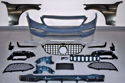 KIT CARROSSERIE COMPLET MERCEDES CLASSE C W205 COUPE STANDARD PHASE 1 LOOK C63 AMG PANAMERICANA GTR (2014/02-2018)