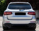 DIFFUSEUR DE PARE CHOC ARRIERE + EMBOUTS LOOK AMG MERCEDES GLC X253 AMG LOOK GLC 63 AMG (2015+)