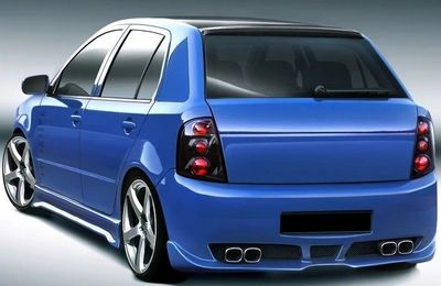 """PARE CHOC ARRIERE SKODA FABIA 1 ST STYLE """"NUCLEAR"""" (1999/2007)"""