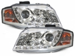 "PHARES A LEDS DEVIL EYES ""DRL LOOK"" AUDI A3 8P VERSION 1(2003/05-2008)"