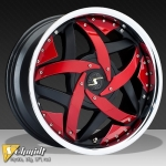 JANTE MYSTIK 17 OU 19 POUCES RED/WHITE OU CHROME INSERT