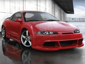 KIT CARROSSERIE COMPLET MITSUBISHI ECLIPSE 95/97 REBEL WIDE BODY