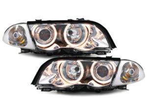 PHARES ANGEL EYES BMW E46 BERLINE OU TOURING PHASE 1 (98/01)