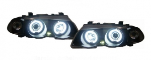 "PHARES ANGEL EYES ""NEON EYES"" BMW E46 BERLINE OU TOURING PHASE 2 (2001/2005)"
