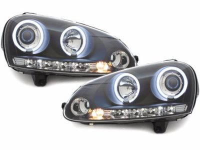 PHARES ANGEL EYES VW GOLF V 03/09 AVEC TECHNOLOGIE CCFL