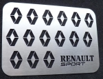 PLAQUE ENJOLIVEUR DE TAPIS RENAULT SPORT