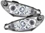 "PHARES ANGEL EYES PEUGEOT 206 98/02 OU 02-07 AVEC TECHNOLOGIE CCFL ""NEON EYES"""