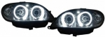"PHARES ANGEL EYES CITROEN SAXO Phase 2 (00-04) AVEC TECHNOLOGIE CCFL ""NEON EYES"""