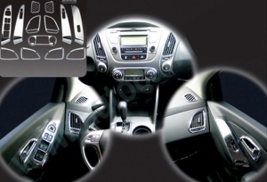 kit de revetement interieur chrome 13 pieces hyundai ix 35 2010