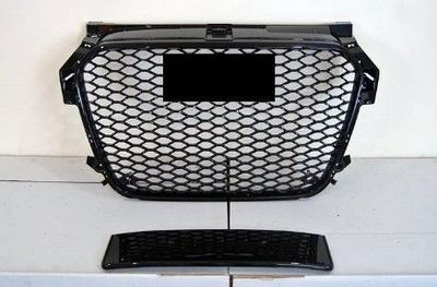 CALANDRE AUDI A1 STANDARD PHASE 1 LOOK RS FRAME GLOSSY BLACK (2010/12-2014)