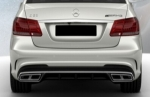 DIFFUSEUR ARRIERE MERCEDES CLASSE E W212 AMG FACELIFT (04-2013+) + EMBOUTS AMG