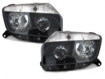 HEADLIGHTS BLACK DACIA DUSTER DC 2011/2013