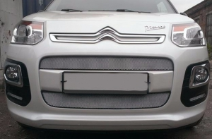 grilles de calandre chromees citroen c3 picasso facelift 2013. Black Bedroom Furniture Sets. Home Design Ideas