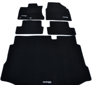 jeu de tapis de sol et de coffre nissan qashqai 5 pieces 2007 2013. Black Bedroom Furniture Sets. Home Design Ideas