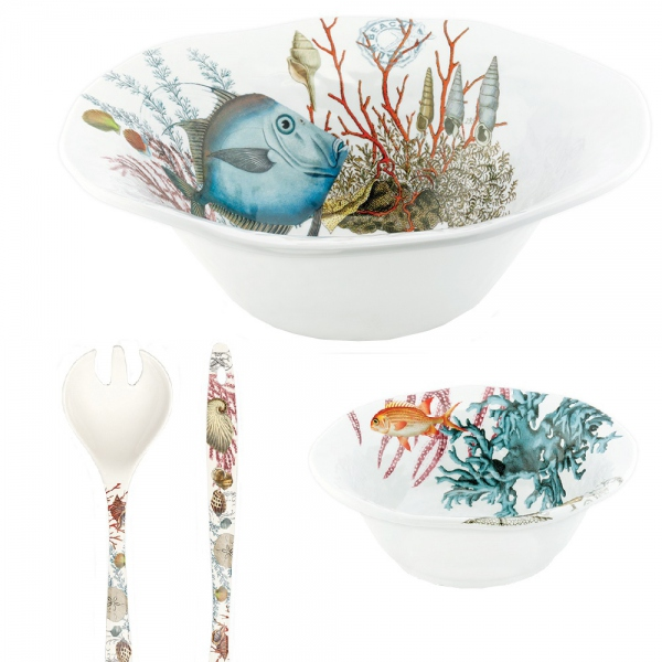 COUVERTS A SALADE MELAMINE SEALIFE