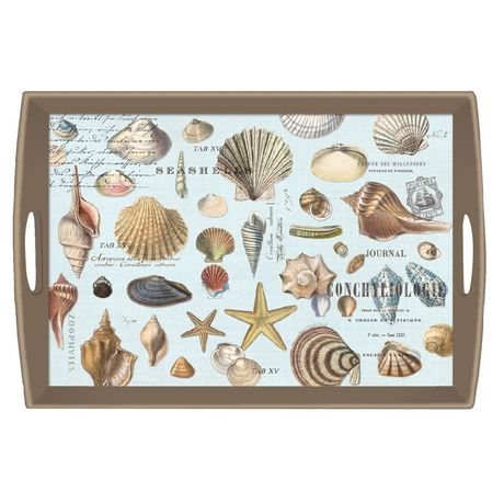 PLATEAU RECTANGLE A POIGNEES SEASHELLS
