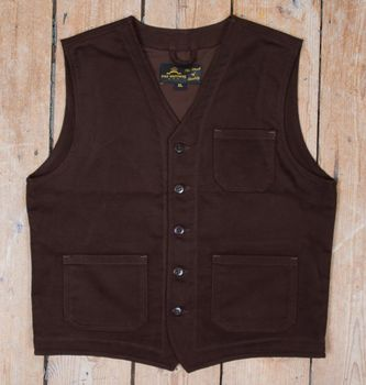 ROAMER VEST MOLESKIN DARK BROWN
